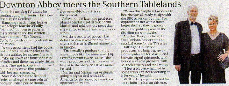 """Lord Martin, Prince of Breifne, Lady Ingrid, Princess of Breifne, Lady Marina, Countess of Breifne and Lord Paul, Baron of Breifne featured in Canberra Times article """"Downton Abbey meets the Southern Tablelands"""" Saturday October 25th 2014"""